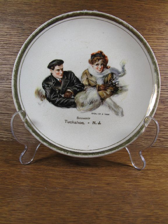 Antique 1920s Couple Sharing Fur Muff Signs of Thaw Souvenir Plate Tuckahoe NJ Dresden China. $17.00 via Etsy.  sc 1 st  Pinterest & Antique 1920s Couple Sharing Fur Muff Signs of Thaw Souvenir Plate ...