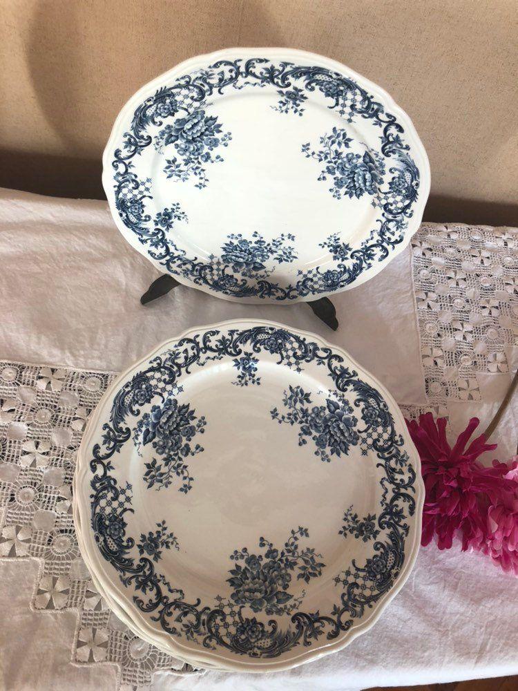 Assiette Plate Villeroy Et Boch Modele Valeria Bleue Made In
