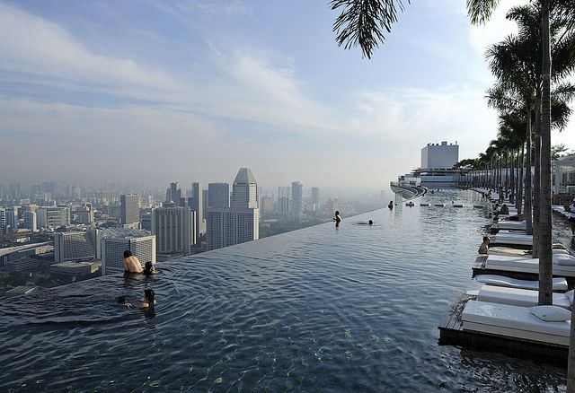 Marina Bay Sands Infinity Pool Sky Pool Amazing Swimming Pools