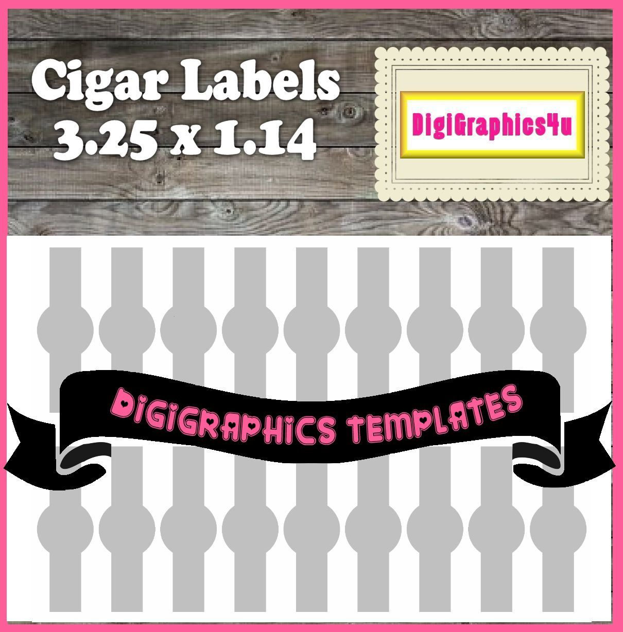 Cigar Labels Template Instant Download PNG Format Digital Collage ...