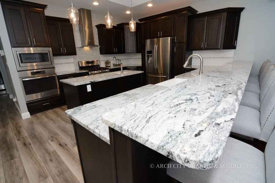 Complete Guide To White Granite Countertops White Granite Countertops Kitchen Design Countertops Espresso