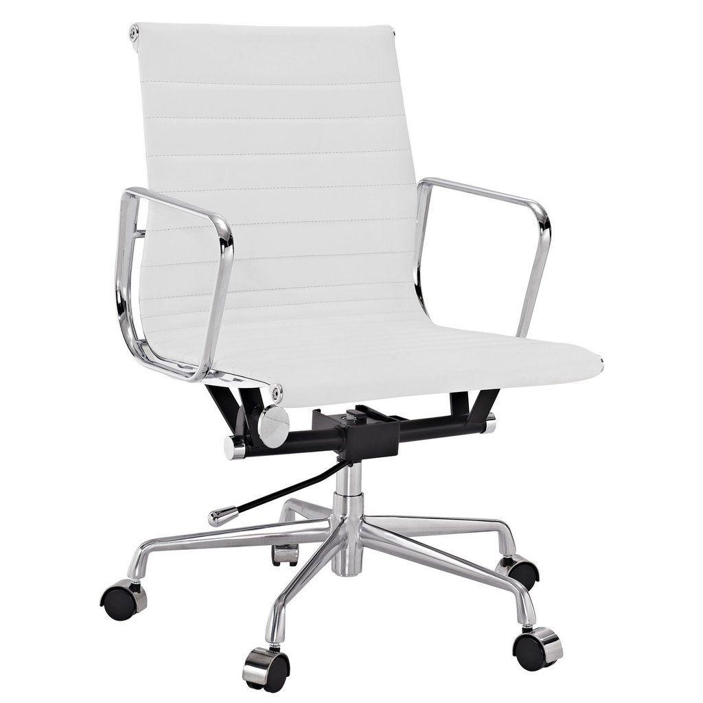 mid aluminum office chair white italian. Ribbed Mid-Back Office Chair In Vegan Leather Mid Aluminum White Italian A