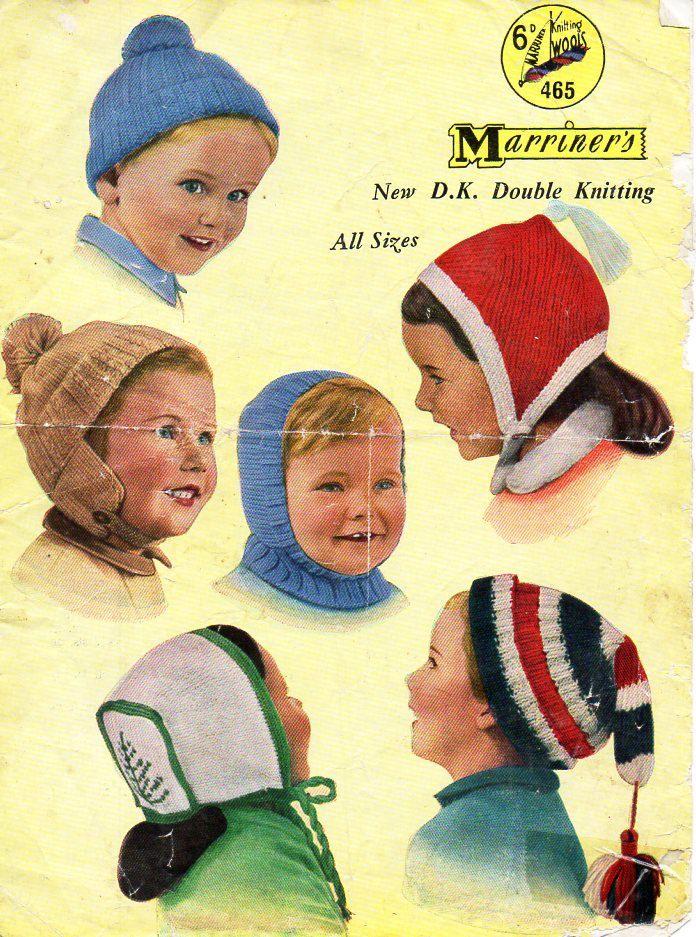 childs childrens hats knitting pattern pdf childrens caps balaclava ...