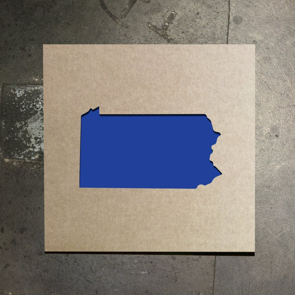 Pennsylvania State Outline Stencil State outline