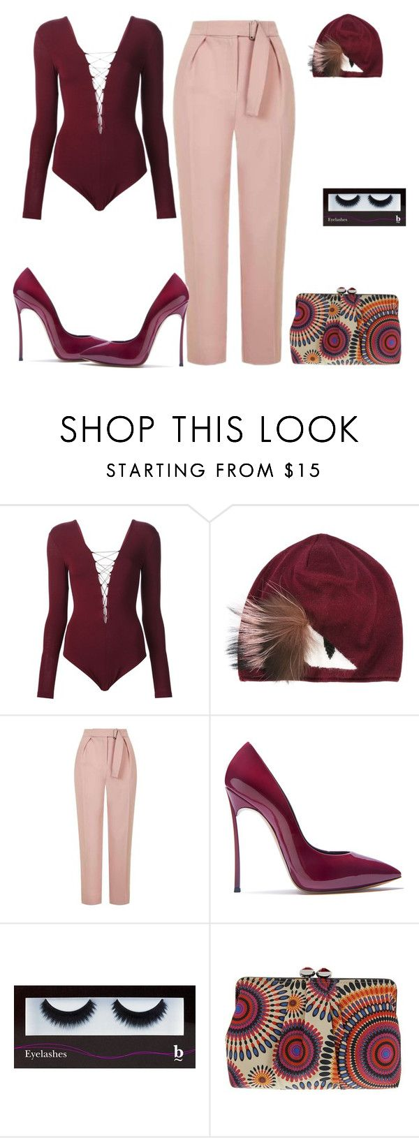 """Untitled #7052"" by tailichuns on Polyvore featuring T By Alexander Wang, Fendi, Topshop, Casadei, BBrowBar and Nina"
