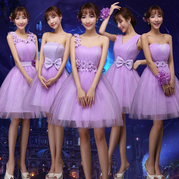 91ee2d1c7e Vestido de dama de honor 2015 soiree bridemaide hombro de la lila ... Más