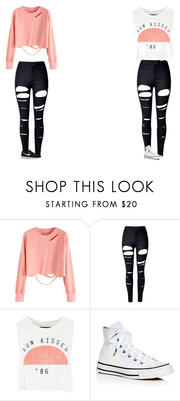 35e89747d1e ... by gwboobear ❤ liked on Polyvore featuring WithChic, Topshop, Converse  and NIKE | ROPA HERMOSA | Pinterest | Σύνολα και Ρο…