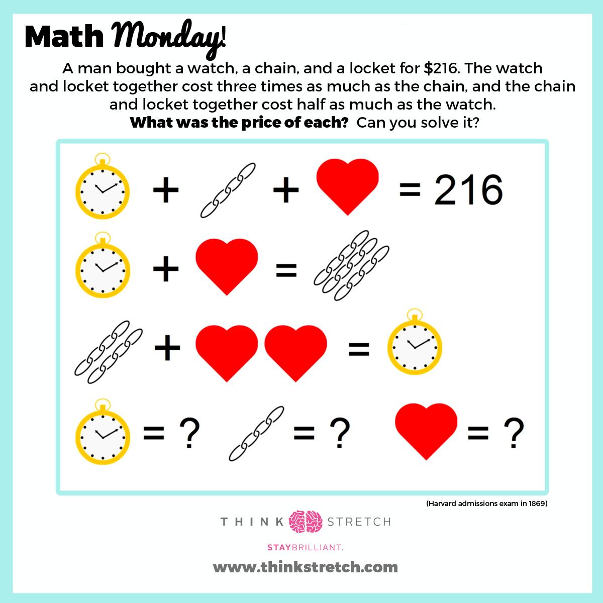 Epingle Par Thinkstretch Sur Math Monday Puzzles Amp Games