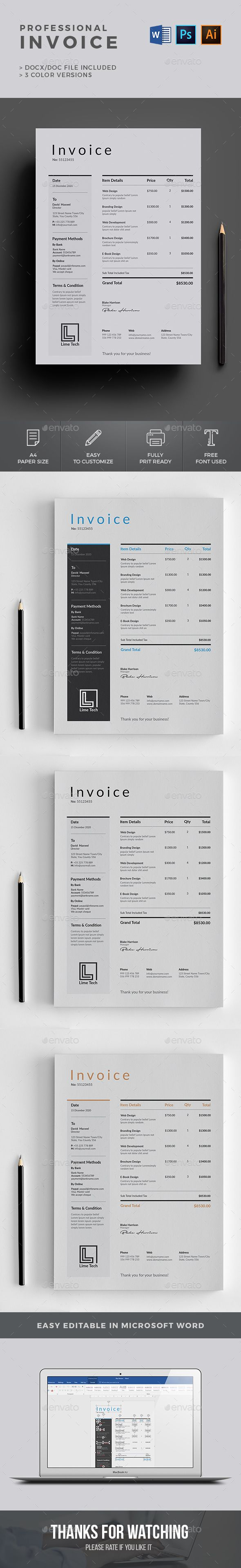 Invoice Invoice Design Invoice Template Presentation Design Template