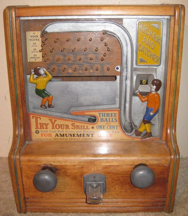 Antique Kicker And Catcher Arcade Machine Arcade Machine
