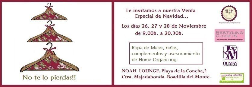 #26-28 de noviembre #market navideño #noah Lounge #boadilla del monte #madrid