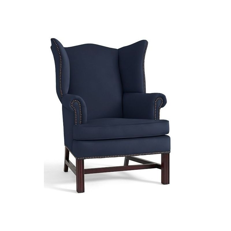 Navy Blue Accent Chair Upholstered Arm Chair, Velvet Wingback Chair,  Wingback Chairs, Chair