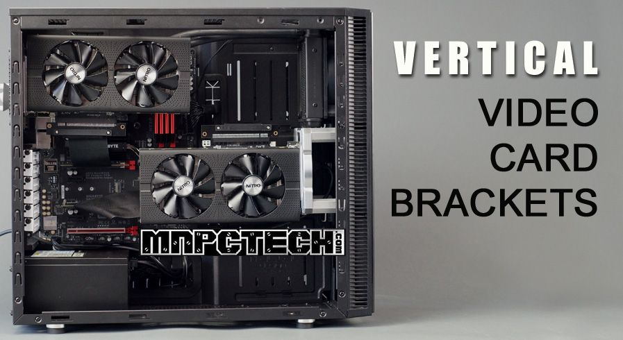 Vertical Gpu Video Card Mount Installation Bracket Adapter Fan Hole 120mm For Pc Cases Gaming Pc Build Video Card Desktop Pcs