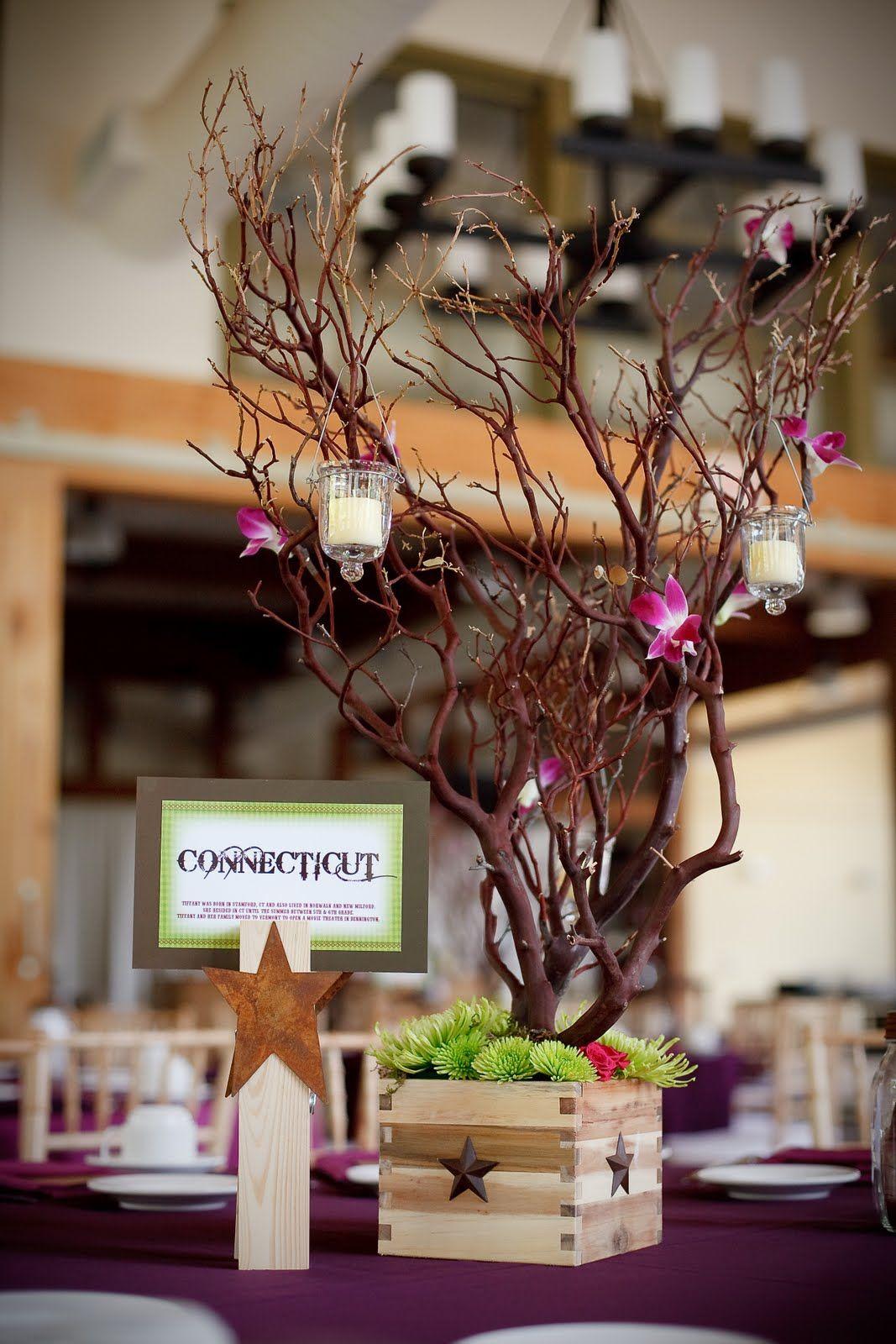 Manzanita branch centerpieces my wedding pinterest
