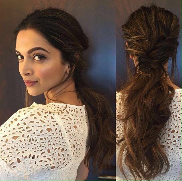 Deepika Padukone Hairstyle Braid Hairstyles Pinterest Hair