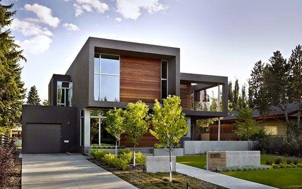 Fachadas de casas com madeira veja 30 modelos modernos e for Casas modernas en washington