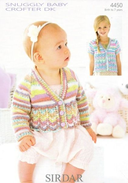 Knitting Pattern - Sirdar 4450 - Snuggly Baby Crofter DK - Cardigans ...