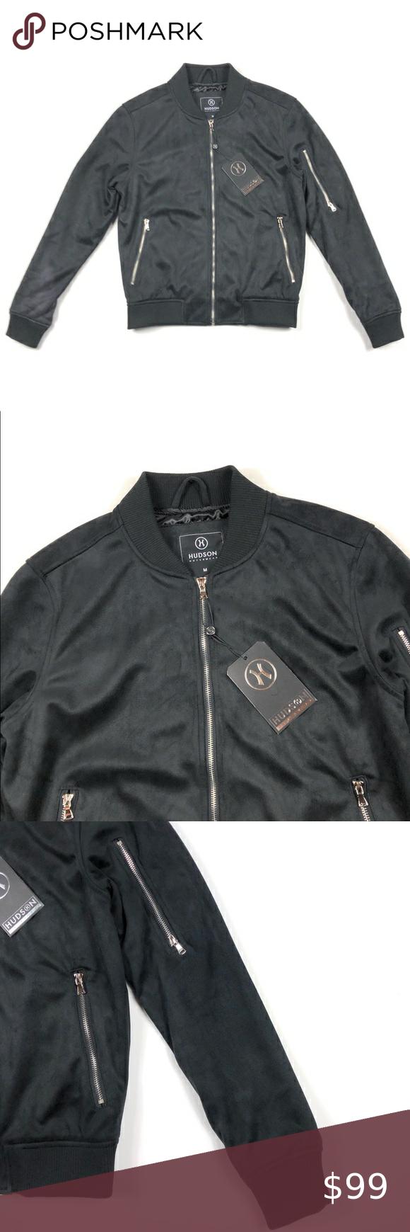 Hudson Outerwear Black Zip Up Bomber Jacket In 2020 Black Zip Ups Outerwear Bomber Jacket [ 1740 x 580 Pixel ]