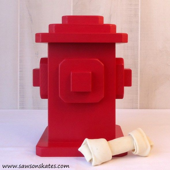 Diy Dog Treats Fire Hydrant Container Wood Dog Diy Dog Treats