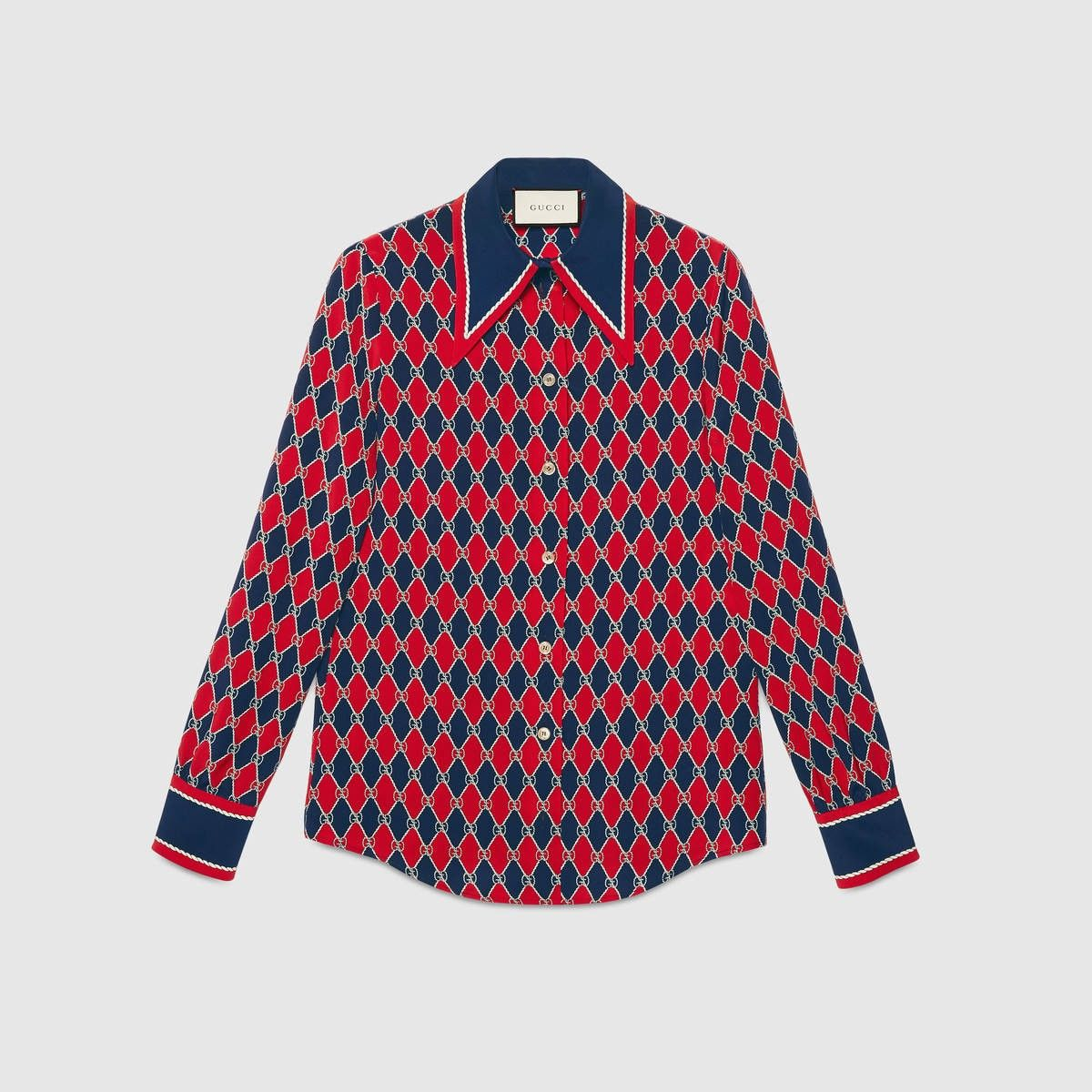 4a5540d5b26 GUCCI Gucci Rhombus print silk shirt - Gucci Rhombus silk.  gucci  cloth