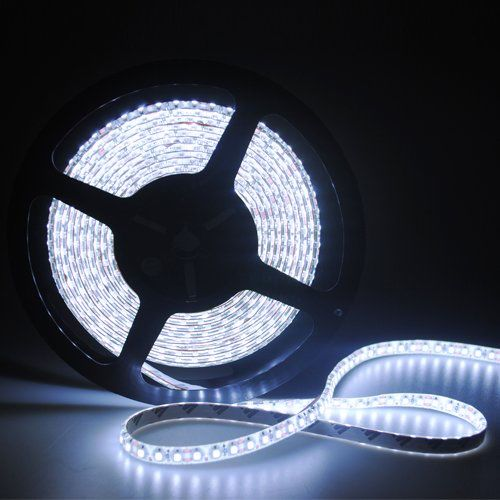 12V cuttable 3528 5m/rope 16.4ft waterproof strip light 300 led Pure white SMD