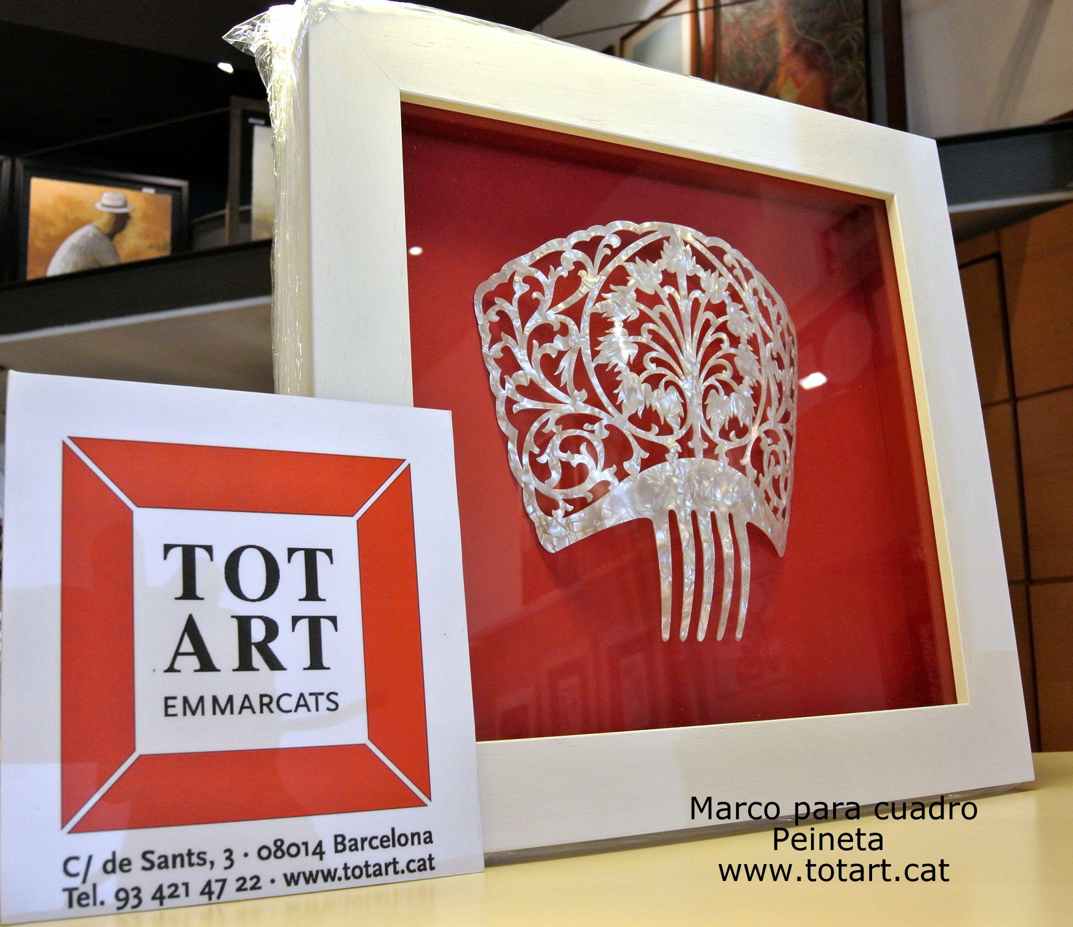 Marco para peineta totart.cat #enmarcar #peineta #barcelona #ideas ...