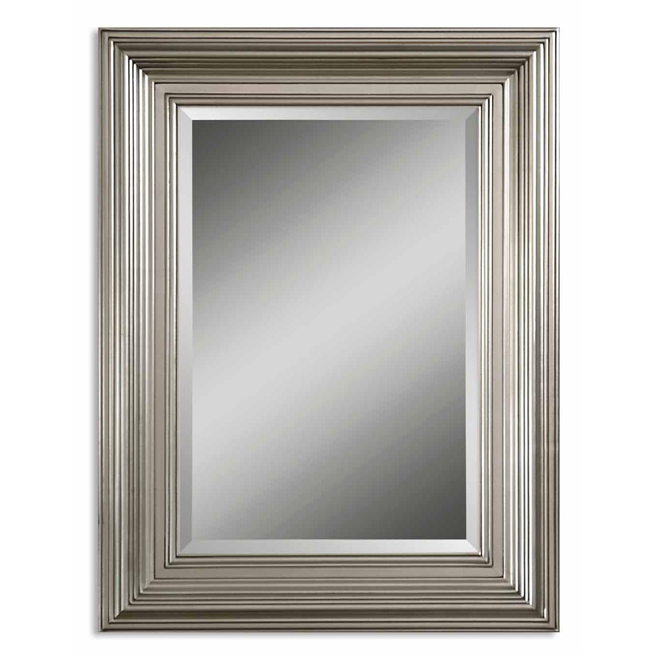 Uttermost Mario Silver Wood Framed Beveled Mirror Mario