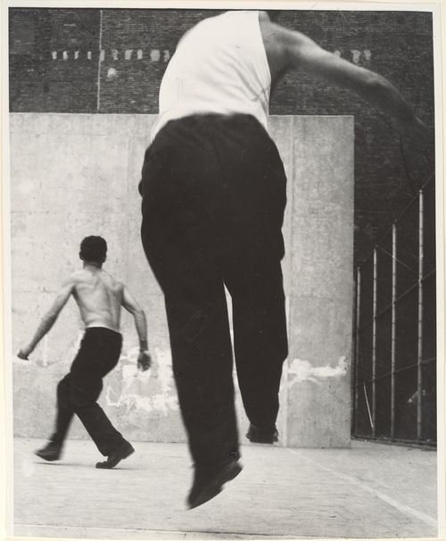 Leon Levinstein. 'Handball Players, Lower East Side, NY' 1950s - 1960s