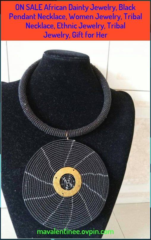 Photo of ON SALE African Dainty Jewelry, Black Pendant Necklace, Women Jewelry, Tribal Necklace, Ethnic Jewelry, Tribal Jewelry, Gift for Her – Blog