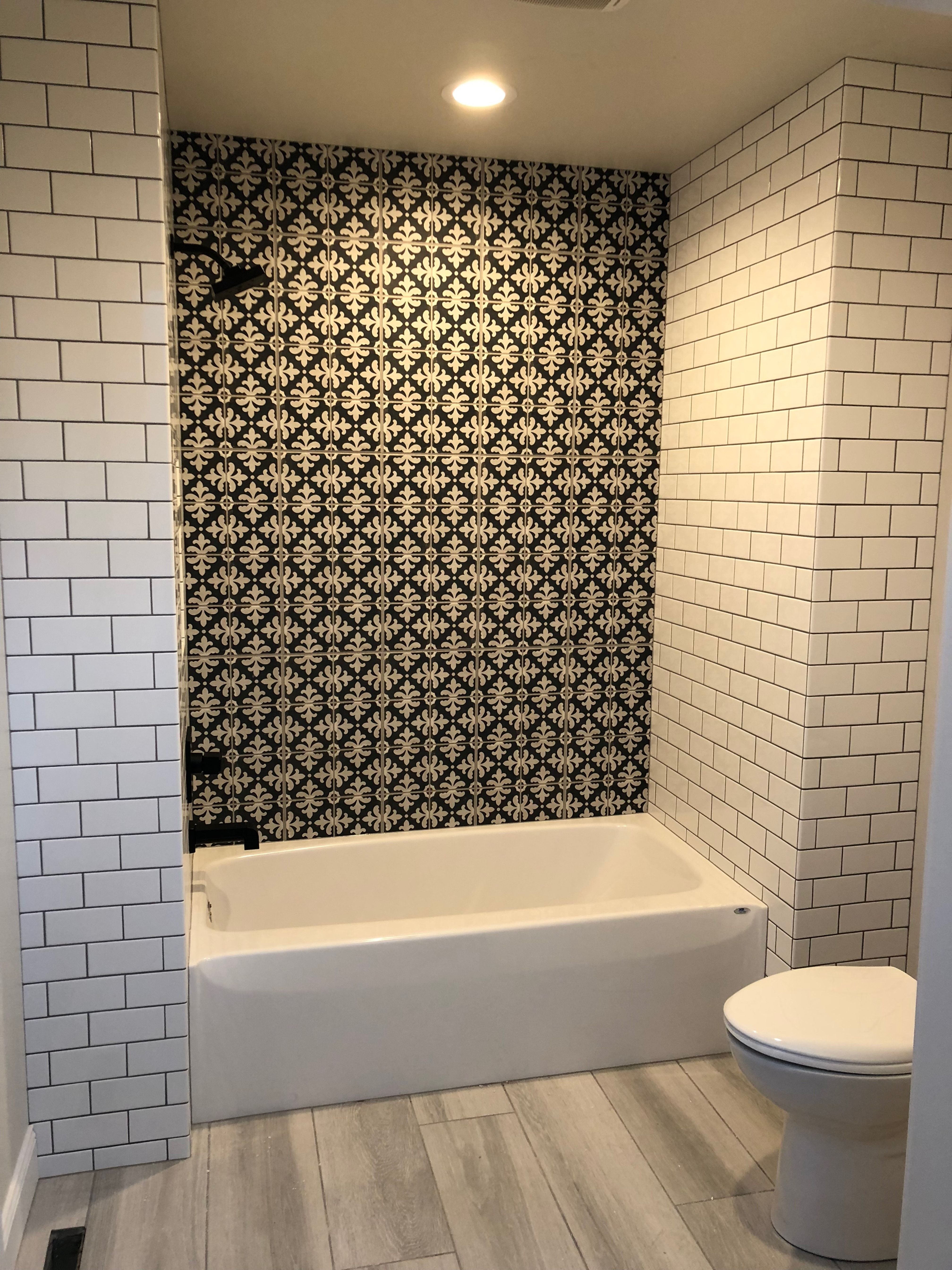 unique patterned tile adding character to your shower wall