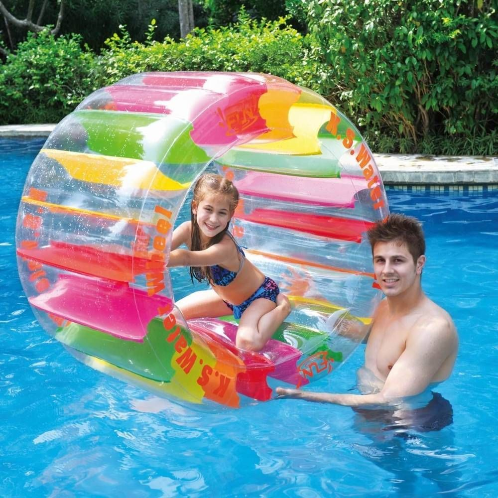 Inflatable Pool Toy Giant Swimming Water Wheel Toys Kids ...