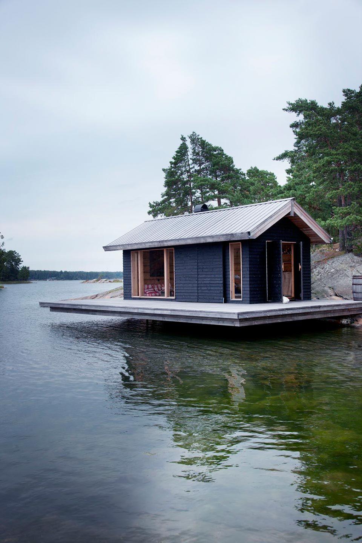 Scandinavian Small House Design: JOARC I ARCHITECTS • Holiday Villas • Mökki, Floating