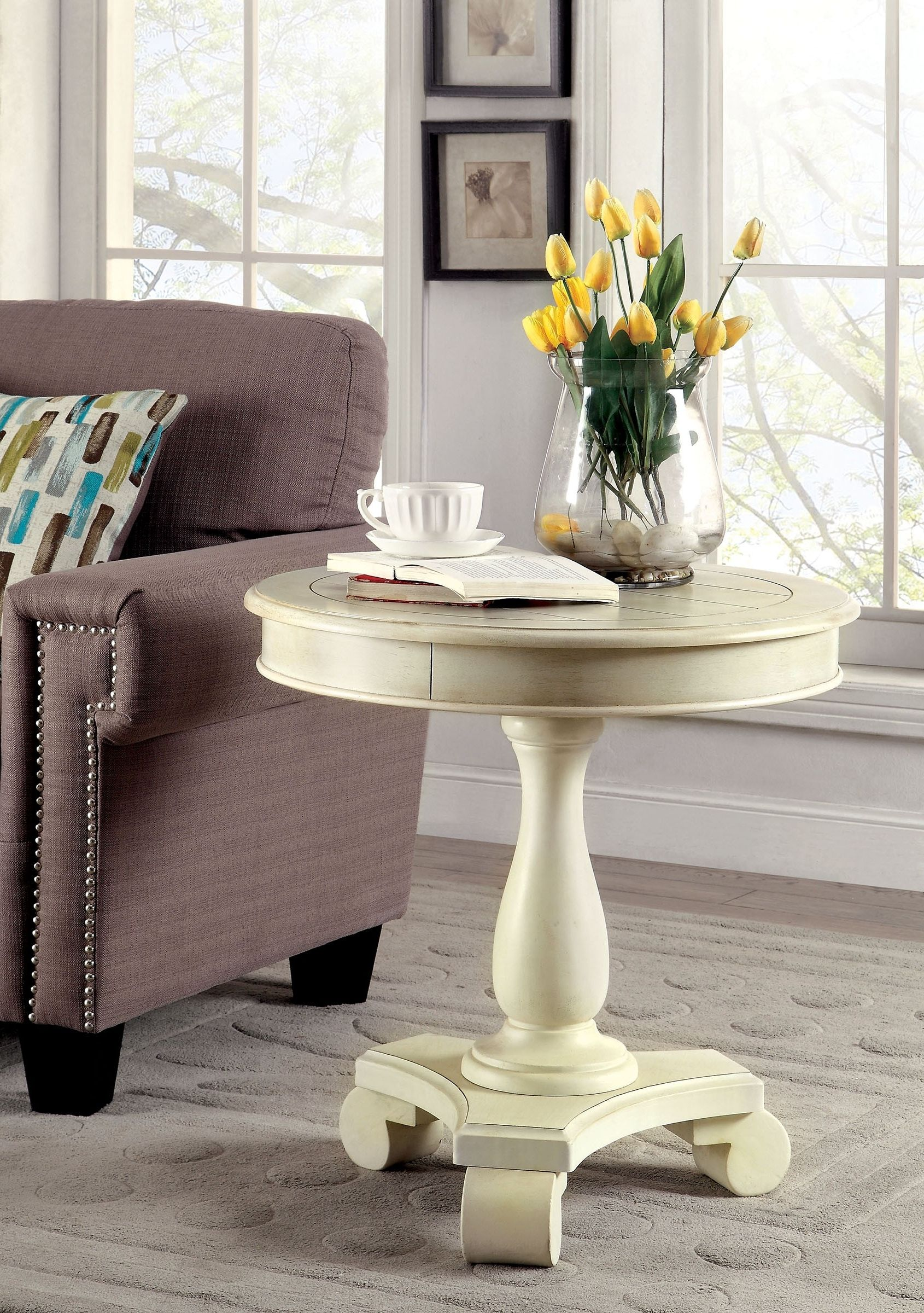 Round Accent Table Tablecloth
