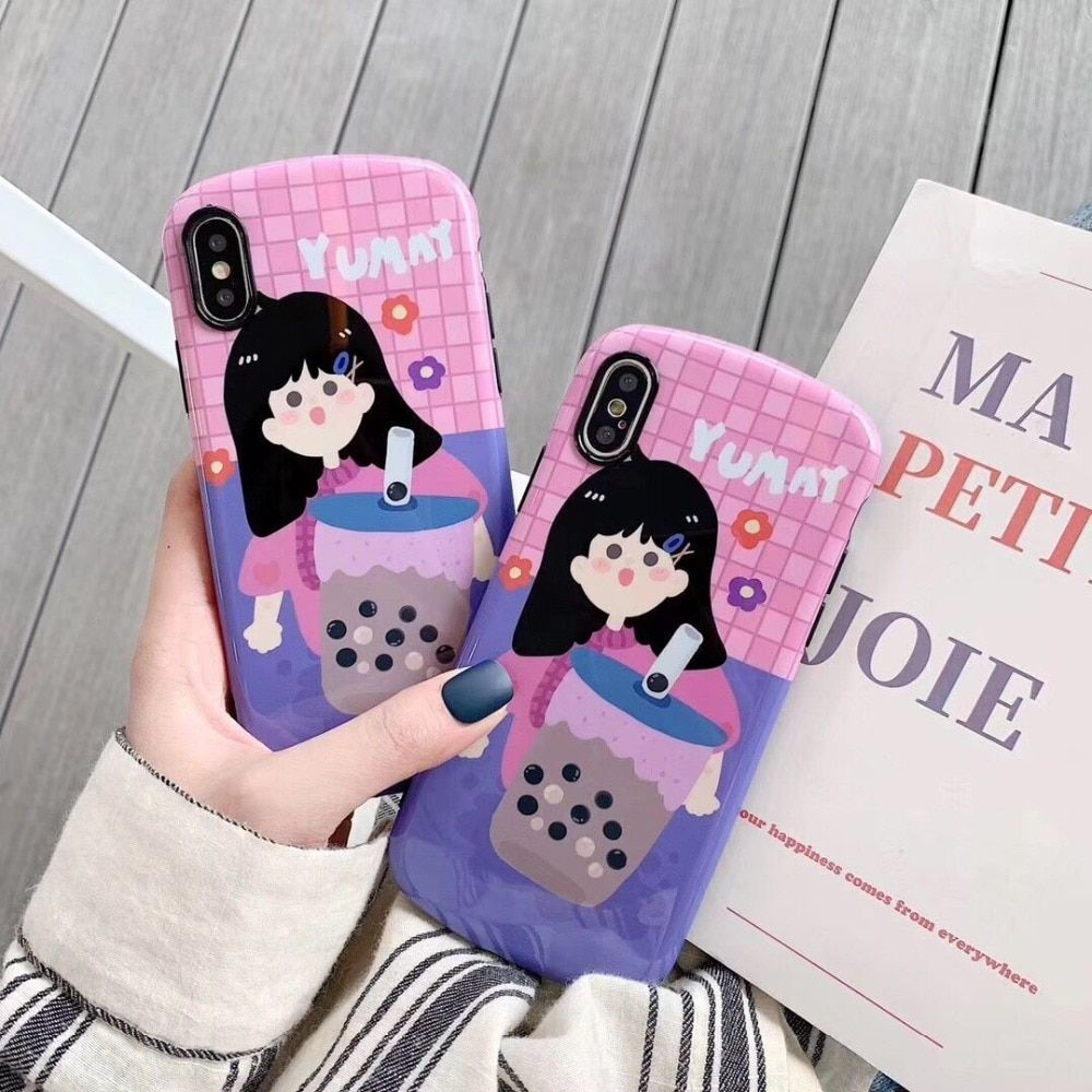 Fashion floral girl phone case for iphone iphone cases