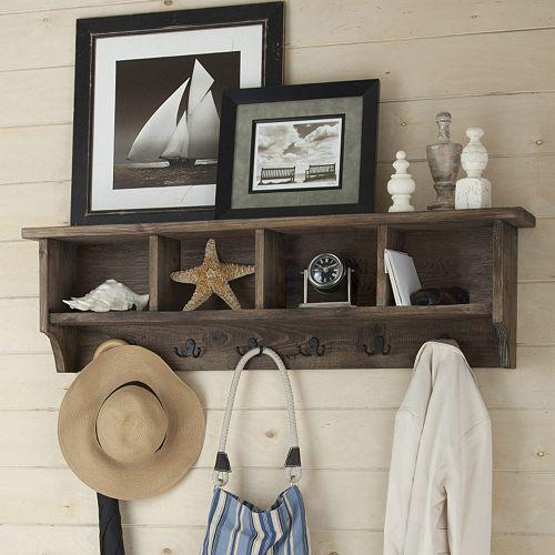 Alaterre Pomona Entryway Coat Hook With Storage Cubbies Coat Rack With Storage Entryway Coat Hooks Wall Mounted Coat Rack