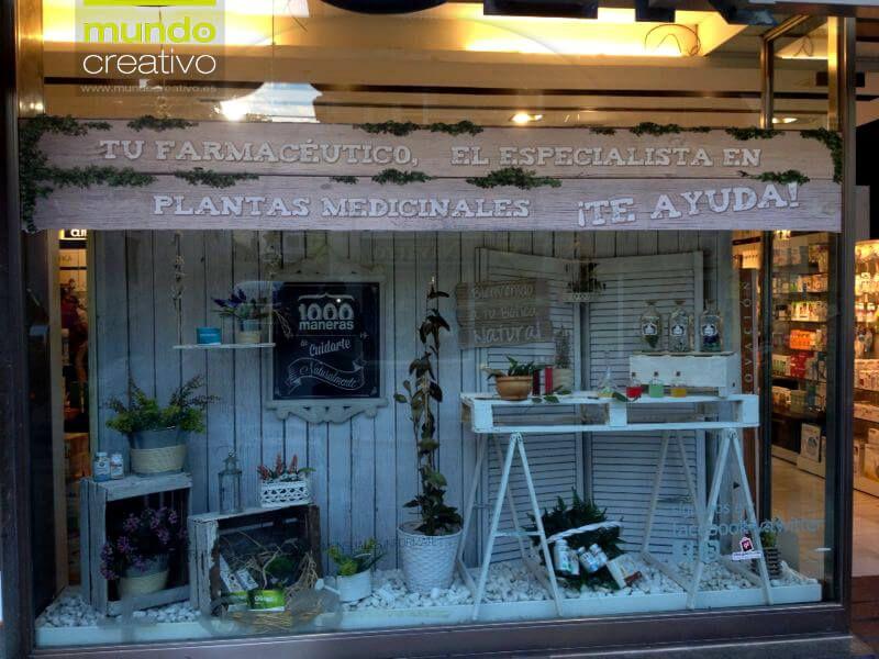 Escaparate natural farmacia en valencia escaparatistas - Decoracion farmacias ...