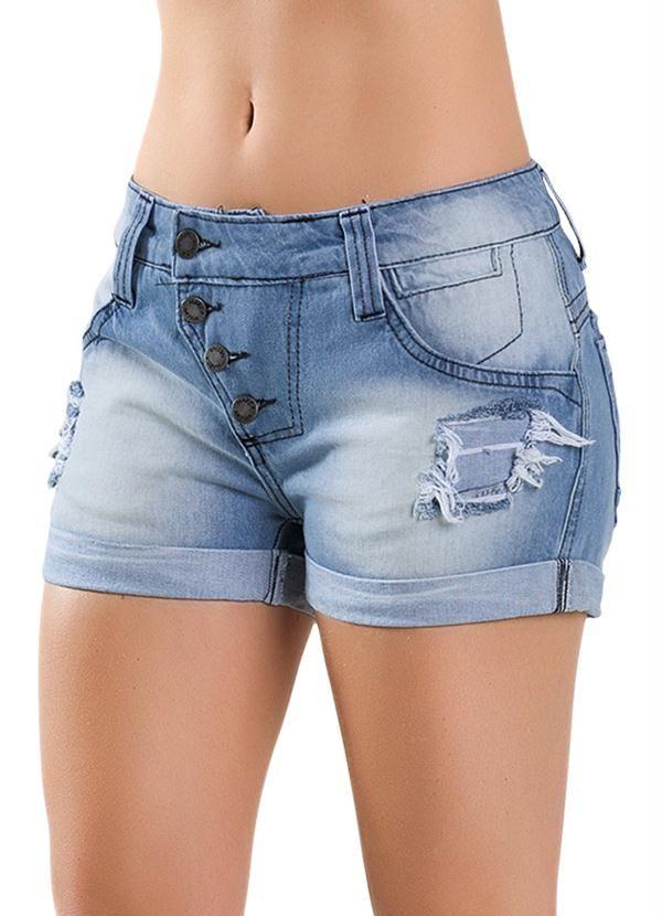 6efbbfad1 Short Feminino Jeans Azul - Multimarcas - Compre em até sem juros na loja  Multimarcas, veja nossas condições para Frete Grátis.
