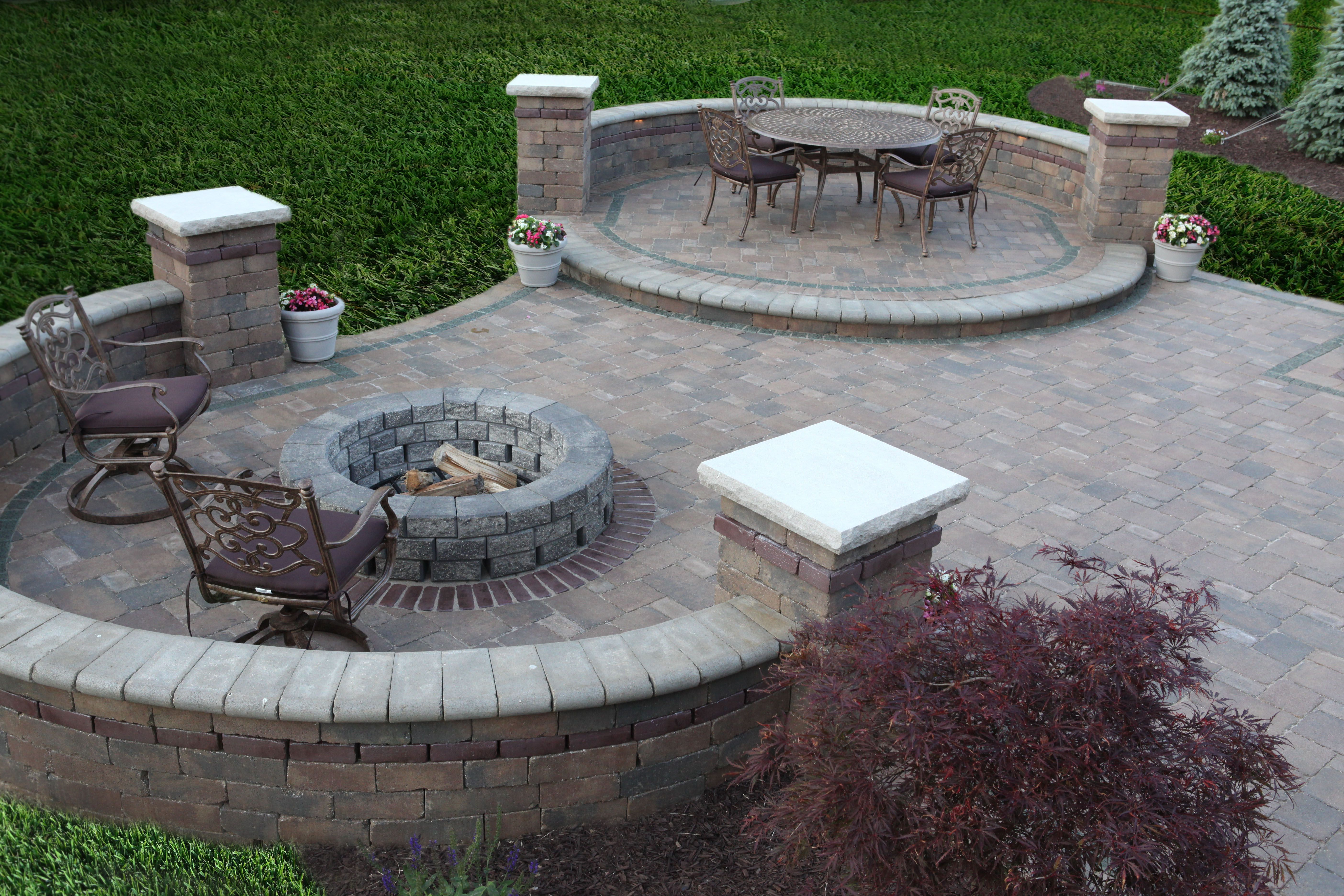 Backyard Designs With Fire Pits Luxury Ideas Paver Patio ...