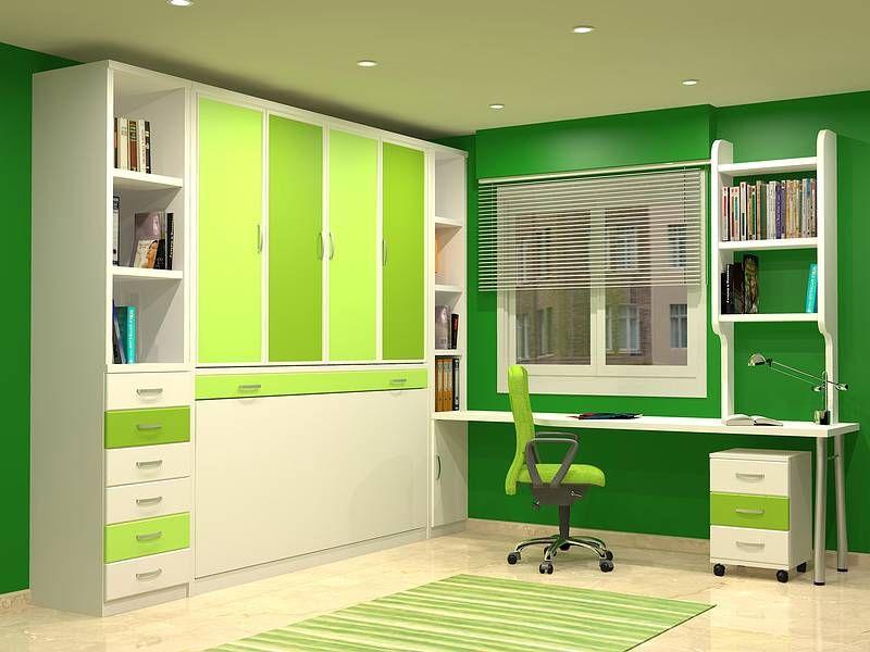 cama abatible con armarios arriba   Dormitorios   Pinterest ...