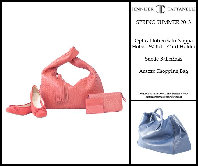 Dear all, please enjoy the new Spring Summer colors with the Coral collection and the new Nappa Arazzo leather! I wish you all a great and sunny season, I hope you will be able to come back to Florence very soon! Yours, Jennifer