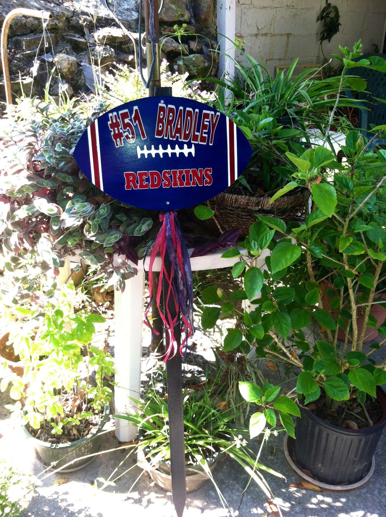Football Yard Stake Football yard signs, Vinyl crafts