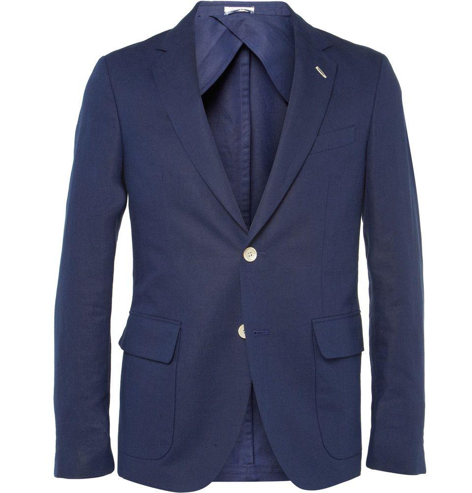 c9af2f569b04c Gant Rugger - Slim-Fit Linen and Cotton-Blend Suit Jacket   MR ...