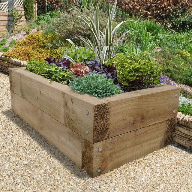 Buy Sleeper Raised Bed By Forest Garden The Worm That Turned Revitalising Your Outdoor Space Raised Herb Garden Raised Planter Beds Raised Garden Beds