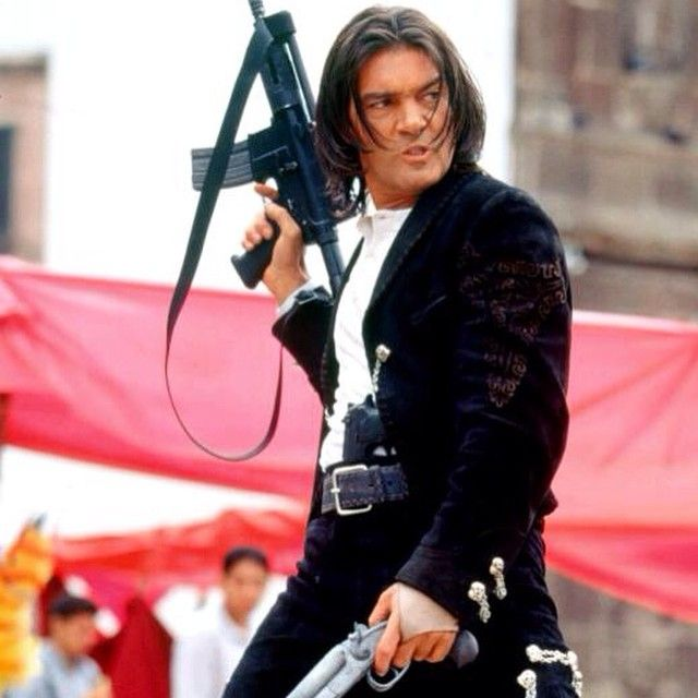 Antonio El Mariachi Once Upon A Time In Mexico Antoniobanderasoficial Antoniobanderas Theantonioband Hollywood Actor Quentin Tarantino Movies Jackets
