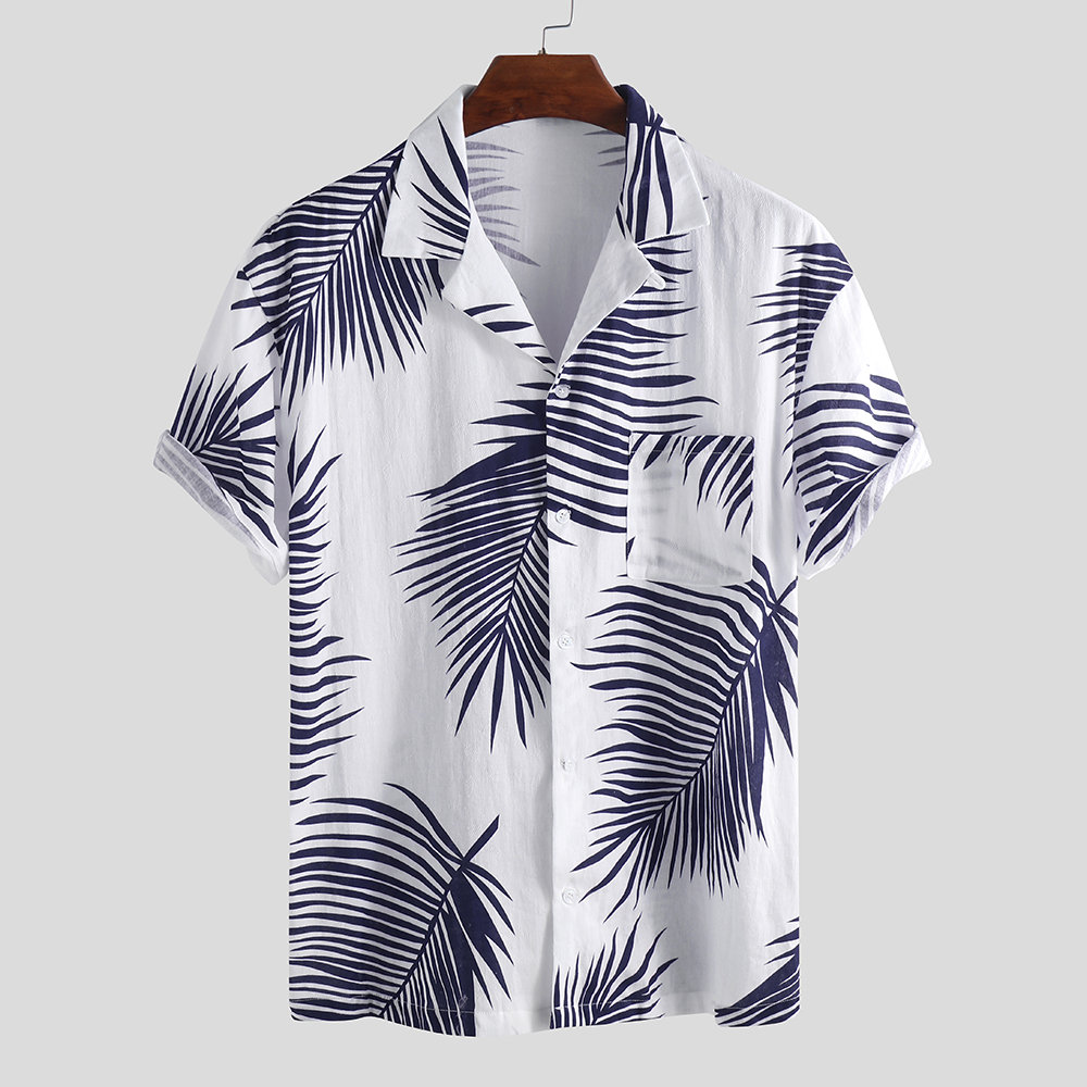 RDHOPE-Men Plus Size Turn-Down Collar Casual Loose Pockets Longshirt