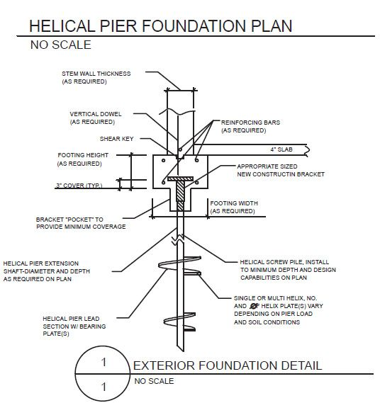 Helical pile foundation google search foundations for Shipping container pier foundation
