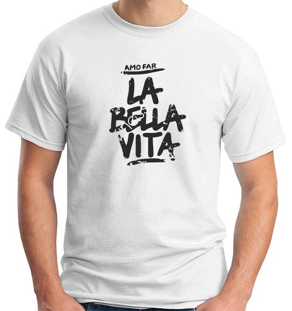 O-neck Tshirts T Shirts Solid Maglia Maglietta Uomo Amo Far La ...