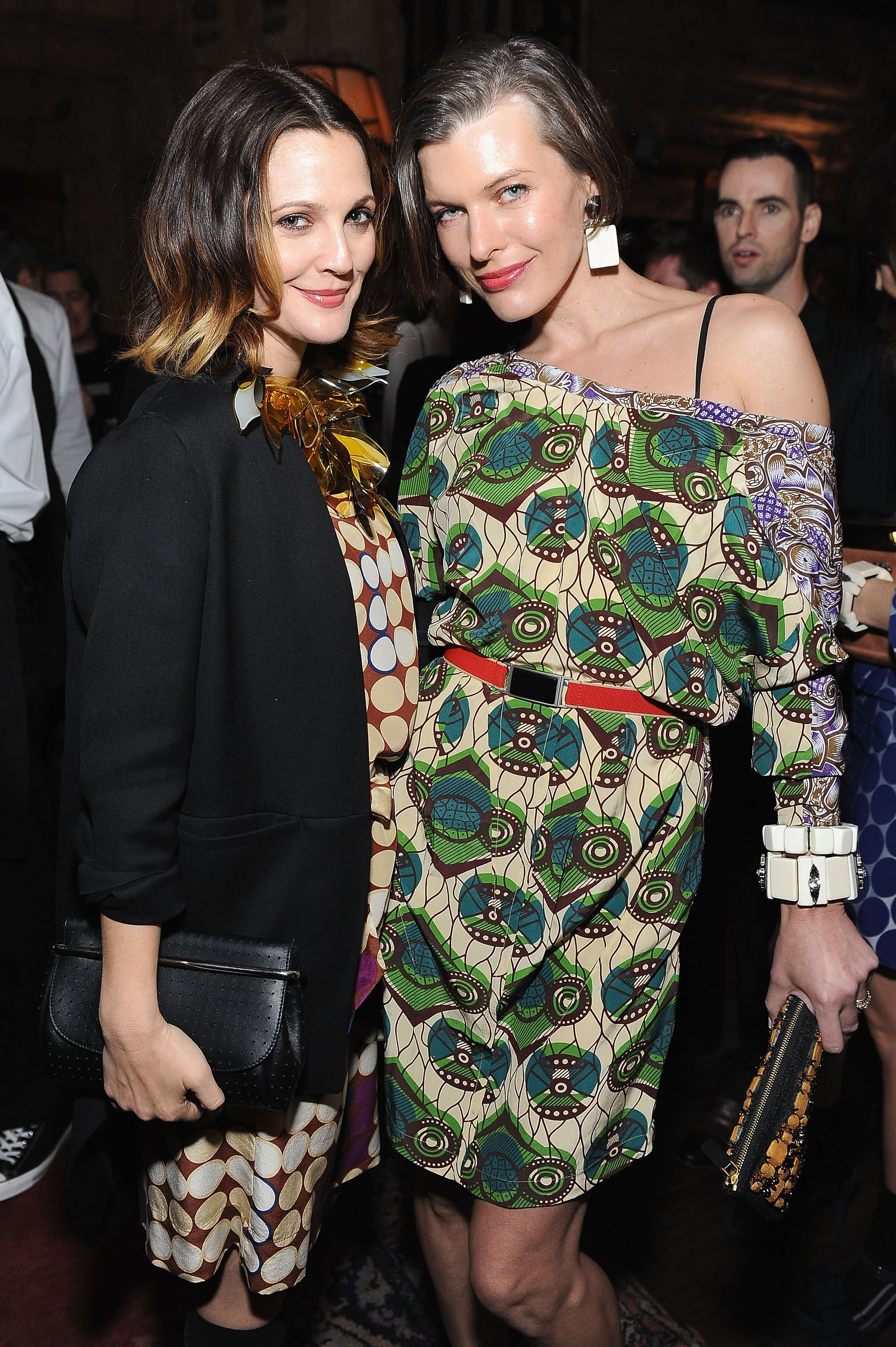 1d9affdfb974 Milla Jovovich and Drew Barrymore wearing Marni for H M