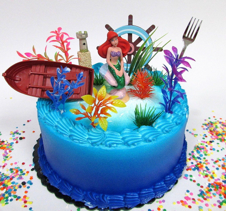 Sirenita Ariel Decoracion Para Pasteles Tortas Y Cake En