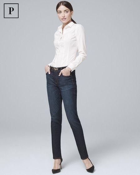 85d95ac90a8 Women's Petite High-Rise Sculpt Fit Slim Jeans by White House Black Market